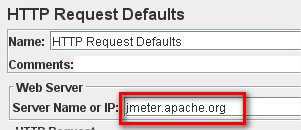 HTTP Request defaults