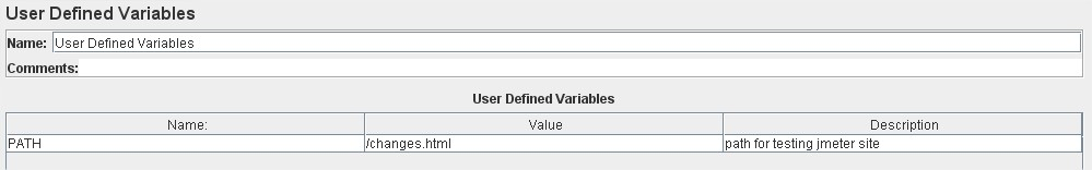 User defined variables